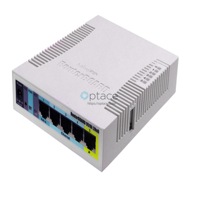 MikroTik (RB951Ui-2HnD) 2.4GHz AP w/ 5 Ethernet Ports and PoE on port 5