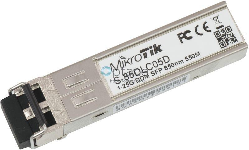 MikroTik SFP (1.25G) Module | 550m, Multi Mode (S-85DLC05D)
