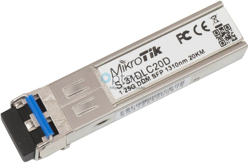 MikroTik SFP (1.25G) Module | 20KM, Single Mode (S-31DLC20D)