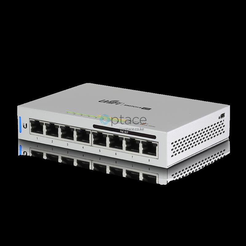Ubiquiti UniFi Switch 8 60W | Fully Managed 802.3af PoE Gigabit Switch
