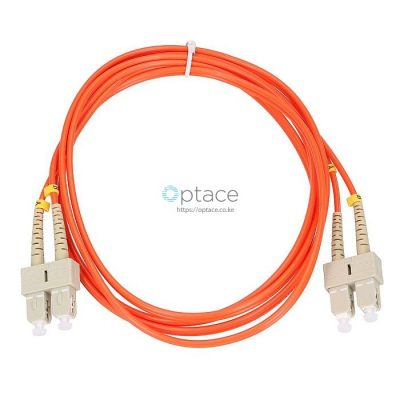 Extralink Multi-Mode Fiber Patch Cord | SC-SC/UPC, 5M, Duplex