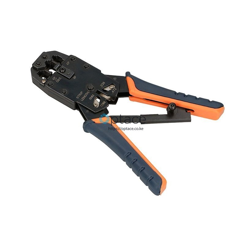 Extralink 4P+6P+8P Crimp Tool with Ratchet
