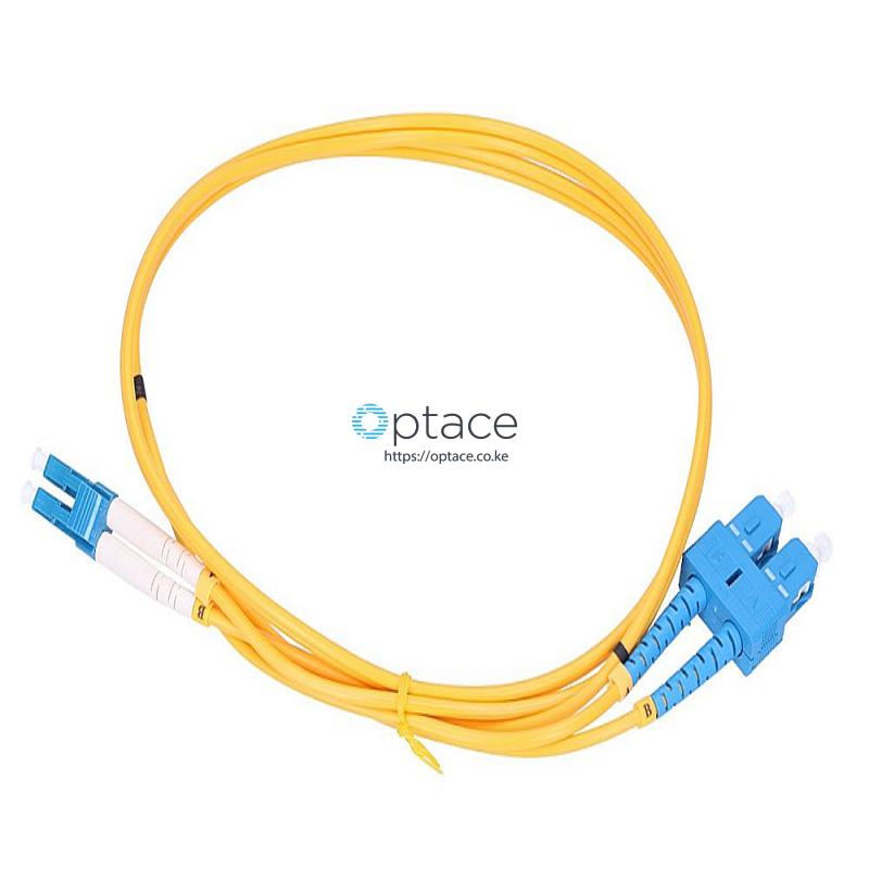 Extralink Single Mode Fiber Patch Cord | SC-LC/UPC, 2M, Duplex