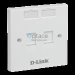 D-Link Flat Faceplate- Dual Port