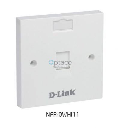 D-Link Flat Faceplate- Single Port
