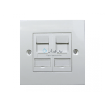 Giganet 2-Port Single-Gang Shuttered Keystone Faceplate