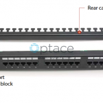 Giganet Category 6 UTP 19 24 Port Patch panel rear