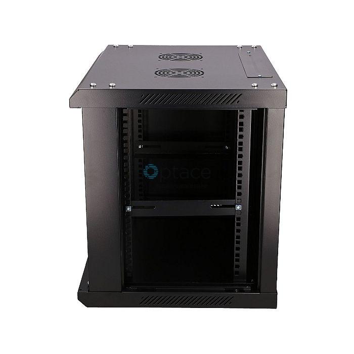 Extralink 9U Wall-Mounted Rackmount Cabinet | 600X450, Black
