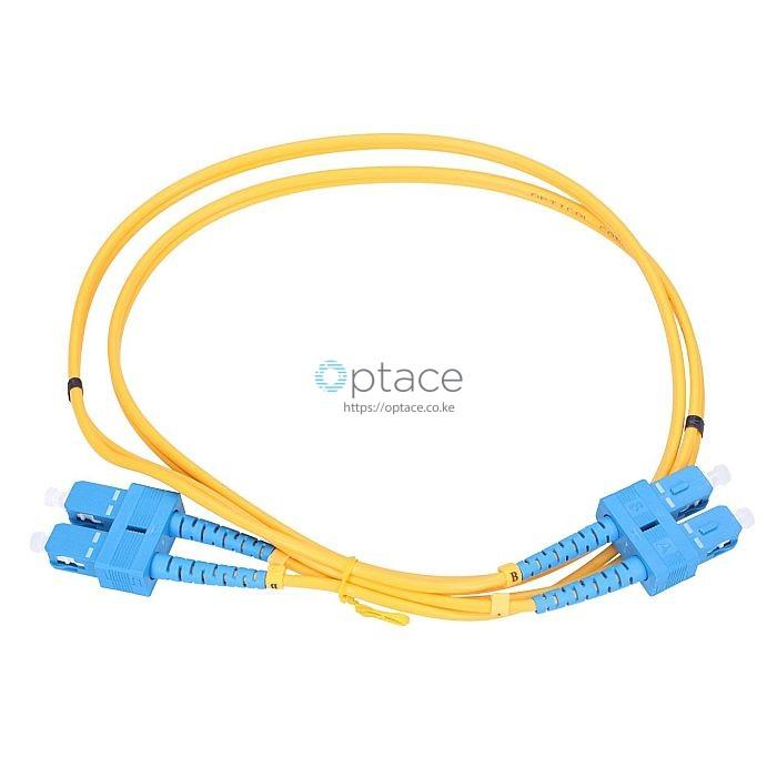 Extralink Single Mode Fiber Patch Cord | SC-SC/UPC, 1M, Duplex