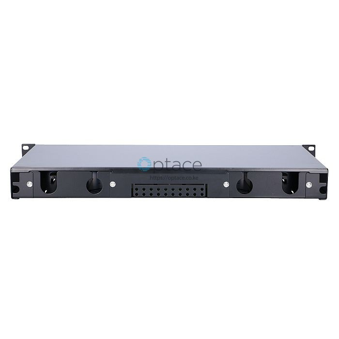 Extralink 24 Core Fiber Optic Patch Panel Black back