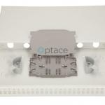 Extralink 24 Core Fiber Optic Patch Panel – White V2 inside