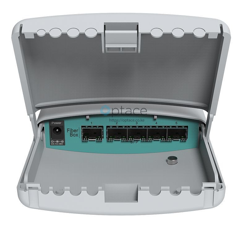 MikroTik FiberBox (CRS105-5S-FB) Outdoor Switch with 5 SFP Ports
