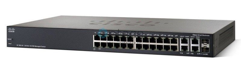Cisco SF300-24 | 24-Port 10/100 Managed Switch with Gigabit Uplinks