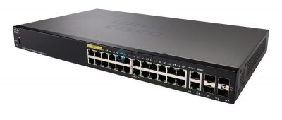 Cisco SF350-24P | 24-Port 10/100 POE Managed Switch