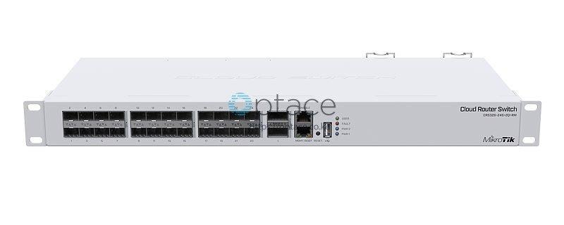 MikroTik CRS326-24S+2Q+RM Switch | 2x 40 Gbps QSFP+ | 24x 10 Gbps SFP+
