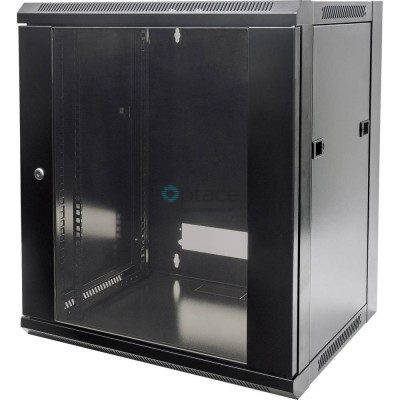 12U Wall Mount Data Cabinet 600 x 600 (Black)