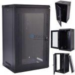 18U Wall Mount Data Cabinet 600 x 600 (Black)