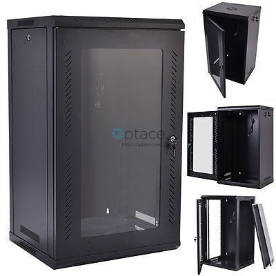 18U Wall Mount Data Cabinet 600 x 600 (Black)