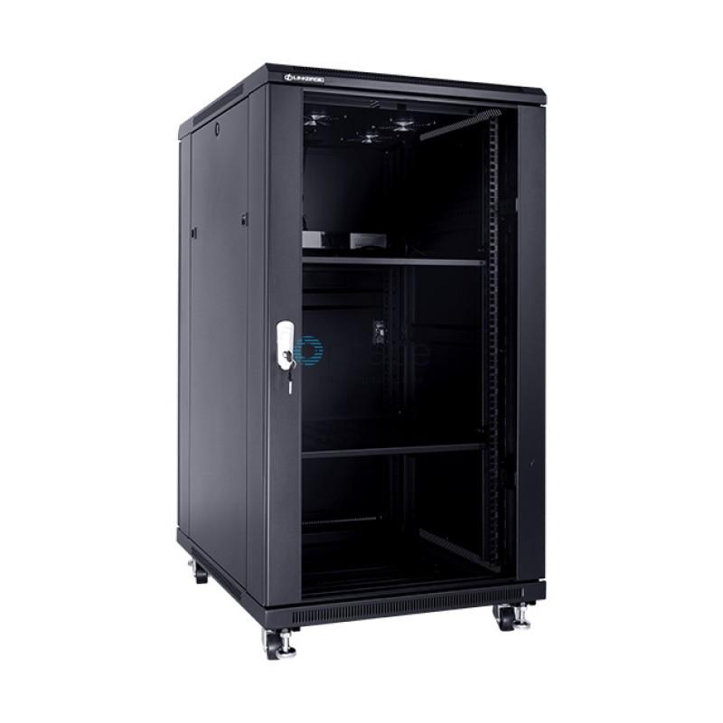 22U Free Standing Cabinet 600 x 600 (Black)