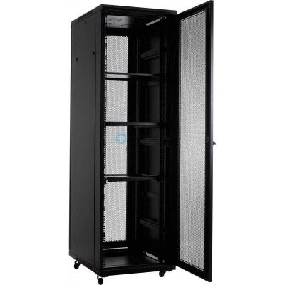 32U Free Standing Cabinet 600 x 1000 (Black) | With Mesh Door