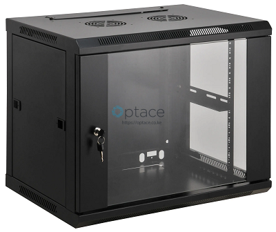 6U Wall Mount Data Cabinet 600 x 450 (Black)