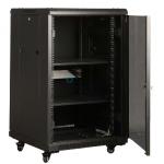 18U Free Standing Cabinet 600 x 600 (Black)