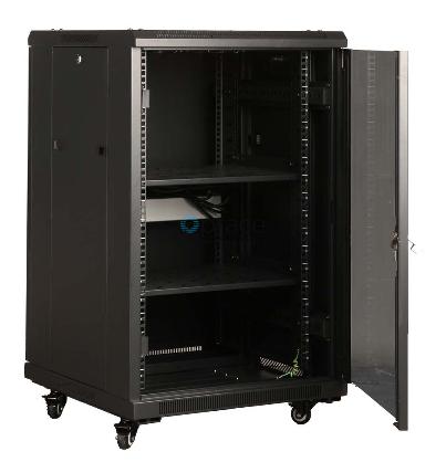 18U Free Standing Cabinet 600 x 1000 (Black)