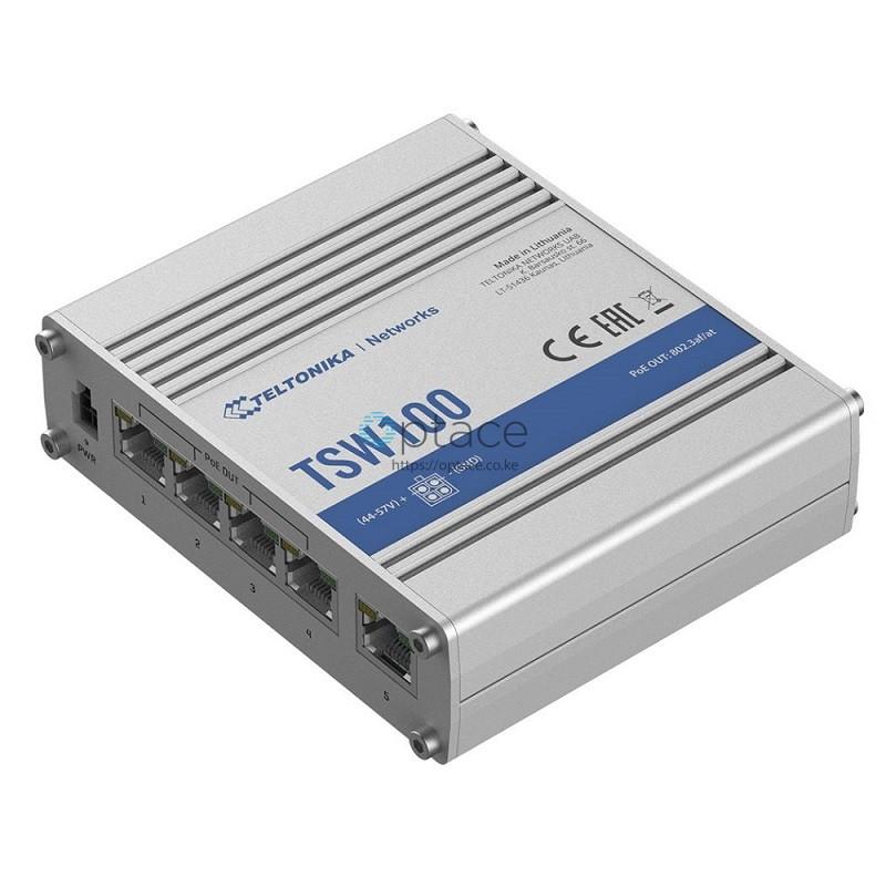Teltonika TSW100 Industrial Unmanaged PoE+ Gigabit Switch