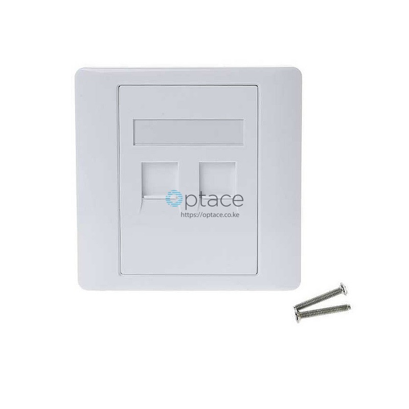 Optace Dual Outlet RJ45 Faceplate