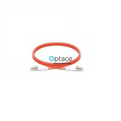 Optace Fiber Patchcord: 2LC/UPC-2LC/UPC, OM2, 1m