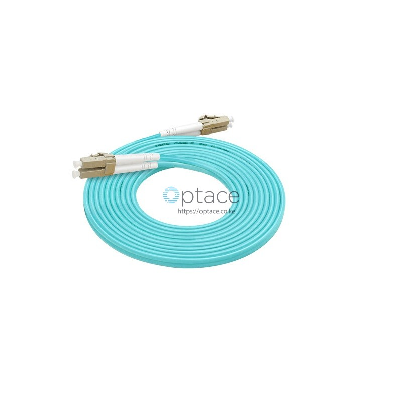 Optace Fiber Patchcord: 2LC/UPC-2LC/UPC, OM4, 3m