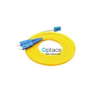 Optace Fiber Patchcord: 2SC/UPC-2LC/UPC, Singlemode, 1m