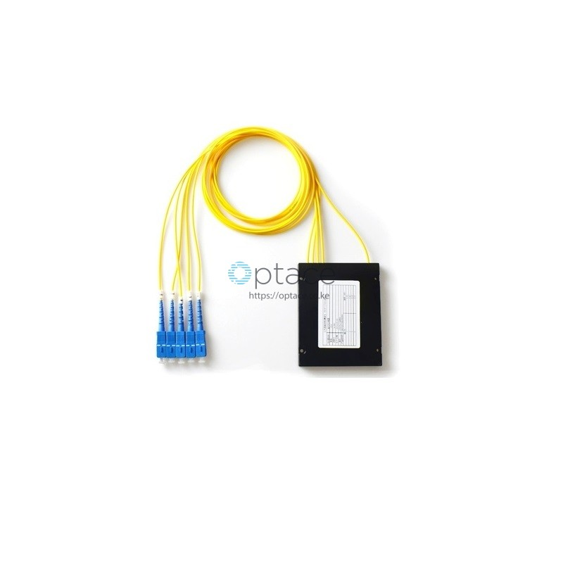 Optace Fiber Splitter -1:4, SC/UPC, ABS Box