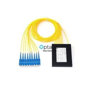 Optace Fiber Splitter -1:8, SC/UPC, ABS Box